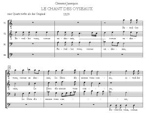 クレマン・ジャヌカンの「LE CHANT DES OYSEAUX」(鳥の歌)冒頭