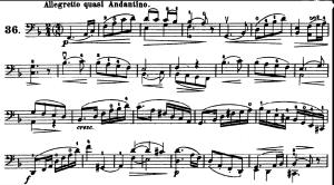 ドッツアウアー 113の練習曲よりNo.36