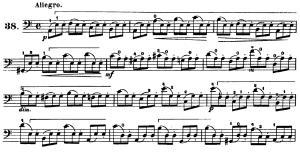 ドッツアウアー 113の練習曲よりNo.38