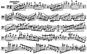 ドッツァウアー113 の練習曲から No.40