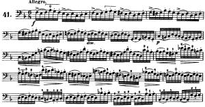 ドッツァウアー113 の練習曲から No.41