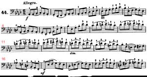 ドッツアウアー 113の練習曲よりNo.44