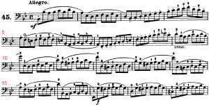 ドッツァウアー113 の練習曲から No.45