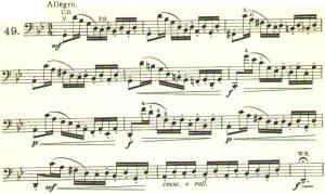 ドッツアウアー 113の練習曲よりNo.49