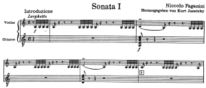パガニーニ チェントーネ・ディ・ソナタ第1番第1楽章序奏